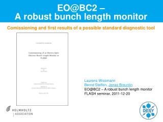 EOBC2    A robust bunch length monitor