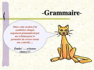 Dans cette section j ai synth tis  chaque argument grammatical par un sch ma pour te permettre de reviser avant ton cont