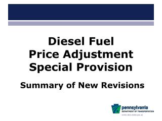 Diesel Fuel           Price Adjustment Special Provision