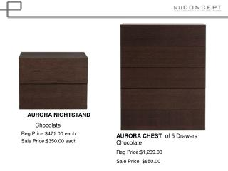 AURORA NIGHTSTAND           Chocolate