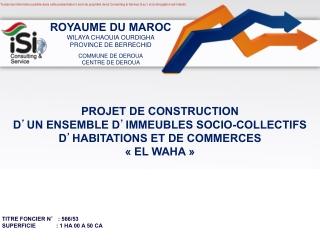 Presentation publique Projet EL WAHA