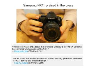 Samsung NX11 Praised in the Press