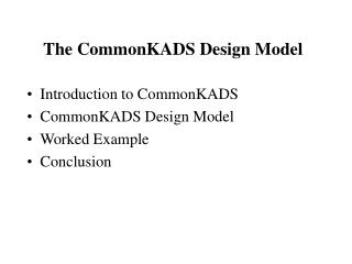 The CommonKADS Design Model