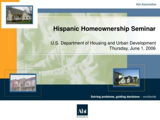 Hispanic Homeownership Seminar