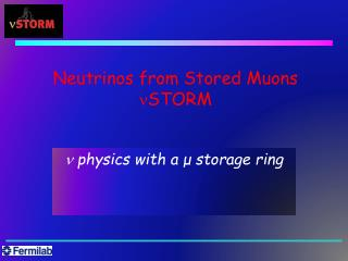 Neutrinos from Stored Muons nSTORM