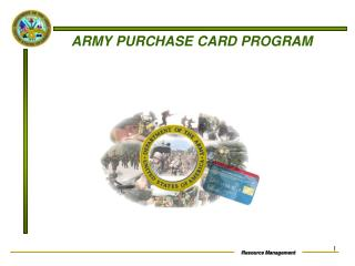 ARMY PURCHASE CARD PROGRAM