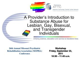 A Provider s Introduction to Substance Abuse for Lesbian, Gay, Bisexual, and Transgender Individuals