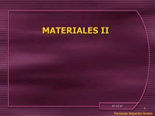 MATERIALES II