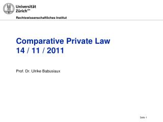 Comparative Private Law 14