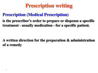 Prescription Medical Prescription