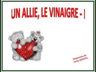 UN ALLIE, LE VINAIGRE - I