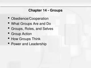Chapter 14 - Groups