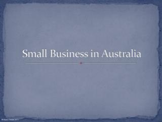 Small Business in Australia