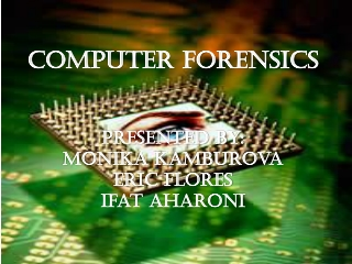 Digital Evidence  Computer Crime