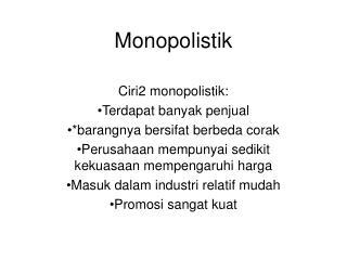 Monopolistik