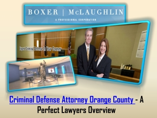 Criminal Defense Attorney Orange County