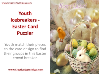 Youth Icebreakers - Easter Card Puzzler
