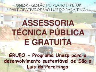 ASSESSORIA T CNICA P BLICA E GRATUITA