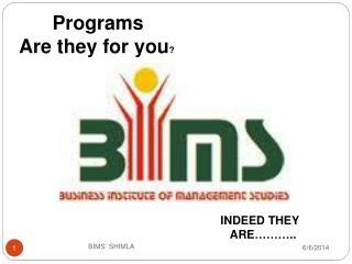 BIMS  SHIMLA
