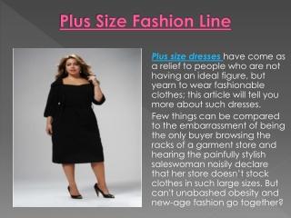Plus Size Fashion Line