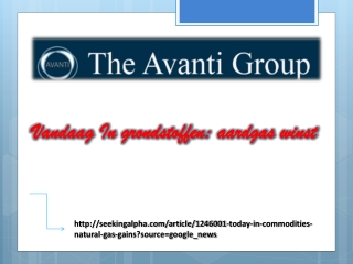 Avanti Group Commodities- Vandaag In grondstoffen: aardgas w