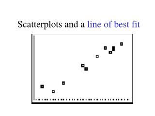 Scatterplots and a line of best fit