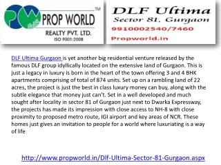 Dlf Ultima|9910007460|Dlf Ultima Sector 81|Dlf Ultima Gurgao