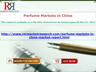 China Perfume Markets Report