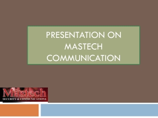 Mastech Security And Communication- Offering Best Security S