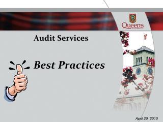 Audit Services    Best Practices