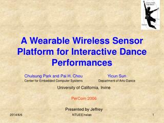 A Wearable Wireless Sensor Platform for Interactive Dance Performances