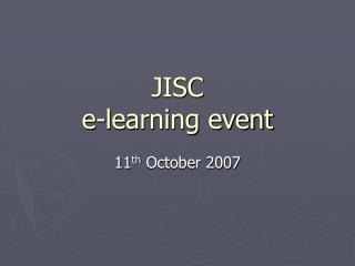 JISC e-learning event