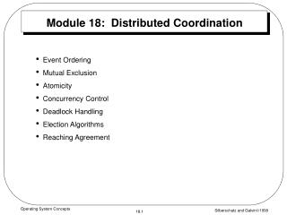 Module 18:  Distributed Coordination