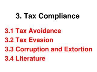 3. Tax Compliance
