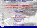 Efficient 3D Finite Element Analysis for Geothermal Heating and Cooling Systems