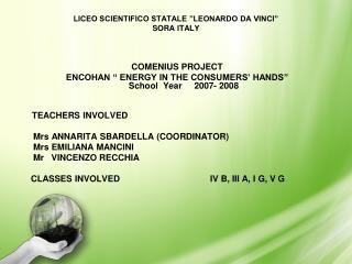LICEO SCIENTIFICO STATALE  LEONARDO DA VINCI  SORA ITALY