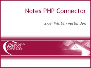 Notes PHP Connector