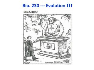 Bio. 230 --- Evolution III