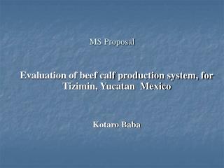 MS Proposal