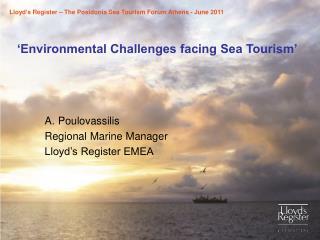 Environmental Challenges facing Sea Tourism