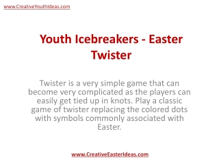 Youth Icebreakers - Easter Twister