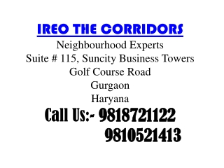 9818721122 || Ireo New Projects