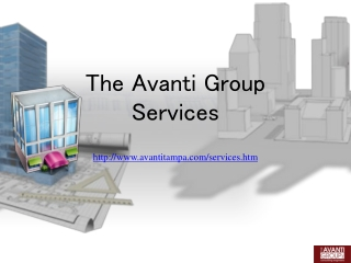 Tokyo Consulting Engineers The Avanti Group, Services