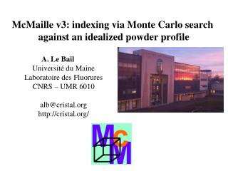McMaille v3: indexing via Monte Carlo search  against an idealized powder profile