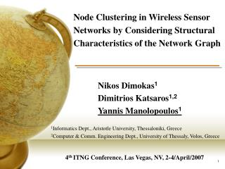 Node Clustering in Wireless Sensor Networks by Considering Structural Characteristics of the Network Graph