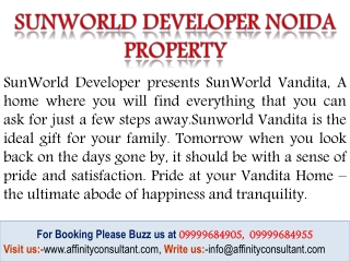 Sunworld Developer Noida