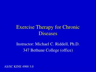 Exercise Therapy for Chronic Diseases