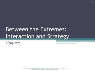 Between the Extremes: Interaction and Strategy