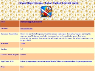 Finger Slayer Escape - Action Packed Android Game