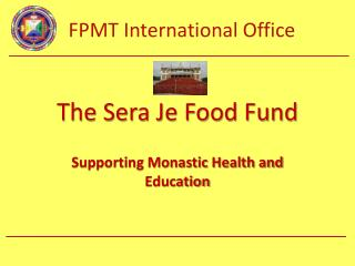 The Sera Je Food Fund